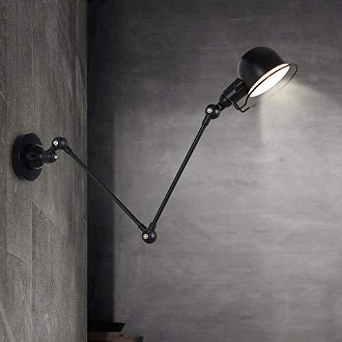 YSNJG lichte schommel-wandlamp industriële ijzeren wand leesarm retro creatieve wandlamp restaurantgang telescoop zwart klapkamer