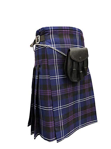 TARTAN TWEEDS Heritage of Scotland Tartán 5 Yardas Kilt and Sporran con Cadena cinturón