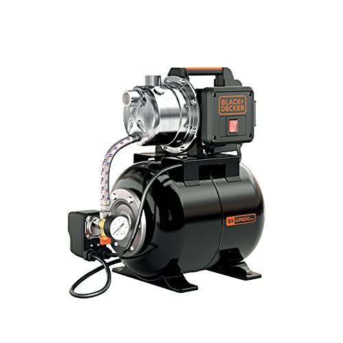 Black+Decker BXGP800XBE Pompa Autoadescante con Serbatoio per Acque Chiare (800 W, Portata max. 3.500 l/h, Prevalenza max. 38 m)