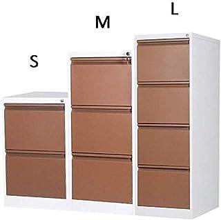 Huizi File Storage Rack, Large Capacity Push-Pull Drawer Office Cabinet Documents Lockable Function Efficient Design Anti-...