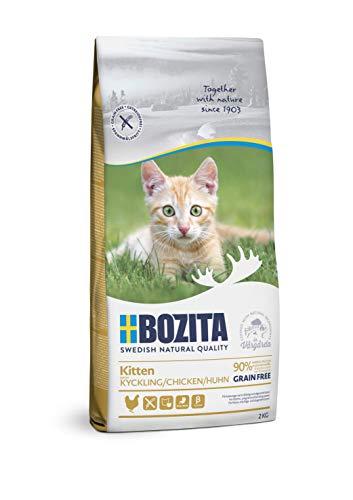 BOZITA Kitten Getreidefrei Hühnchen - Trockenfutter für Kitten, junge Katzen und säugende Muttertiere, 2 kg