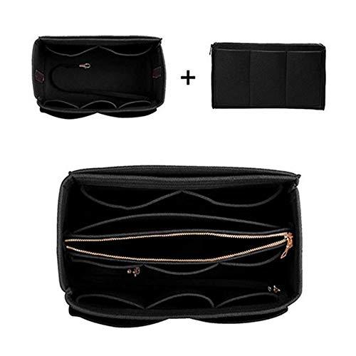 zhangchengxiang520 Nouveau Sac cosmétique Simple et à la Mode, Sac de Rangement pour cosmétiques créatifs, Sac cosmétique Multifonctionnel, Simple et Pratique, Noir, 30 * 16 * 16cm