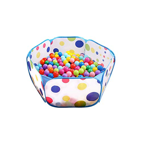 Tech Traders  Kids Ball Pit, Indoor & Outdoor Play Tent Playpen Ball Pit Pool with Blue Zippered Storage Bag (Balls not Included)