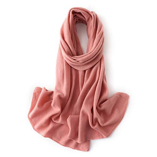 Moda Bufanda Chal de las mujeres otoño invierno de la cachemira de la bufanda bufanda de la manera cachemira suave del abrigo del mantón de la bufanda Bufanda acogedora ( Color : Pink-a )