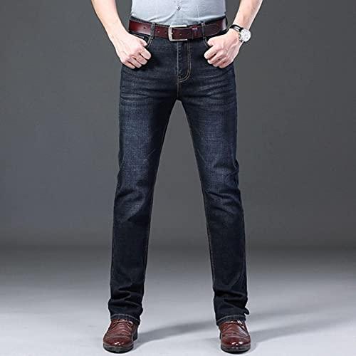 Woovitpl Jean Homme Men Jeans Skinny Slim Fit Black Blue Denim Jeansメンズバイカーストレッチパンツズボンカジュアル 29