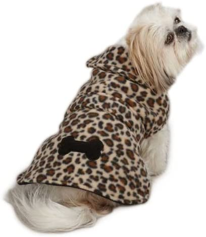 East Side Collection Polyester Posh Popular shop is the lowest price challenge Dog Fashion Leopard Jacket Fleece