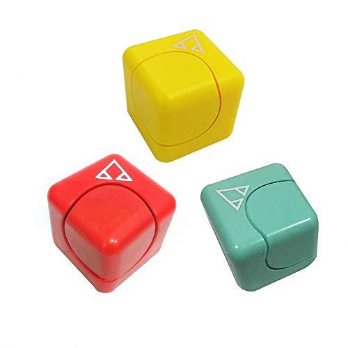 Omotya ストレス解消キューブ 不安 緊張 キューブ型 クリスマスギフト ポケットゲーム 知具玩具 3枚组 (3カラーs)