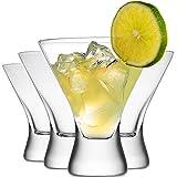 Premium Cocktail Glasses 8-Ounces Martini Glasses with Crystal Clear Base [4 PACK] Elegant Glasses for Cocktails, Martini Party Glasses, Cosmopolitan Glasses for Manhattan, Brandy, Margarita, etc.