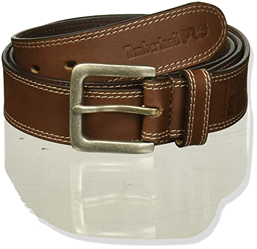 Timberland PRO Men's 38mm Boot Leather Belt, Brown, 34