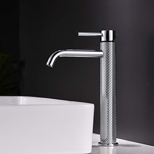 TIMACO Wasserhahn Bad Waschtischarmatur Einhebel-Mischbatterie Badarmatur Waschbecken Badezimmer Kaltes und Heißes Wasser Vorhanden,Chrom