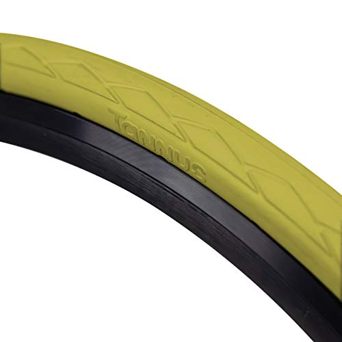 Tannus Cubierta 700x28c Semi Slick | Neumático Antipinchazos Bici Carretera, Lemon, Hard