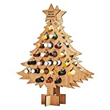 Crsary Wine Bottle Christmas Tree Rack, Christmas Tree Bottle Holder, Wooden Christmas Advent Countdown Calendar Christmas Tree 24 Days Wine Bottle Stand, Gifts for Adults