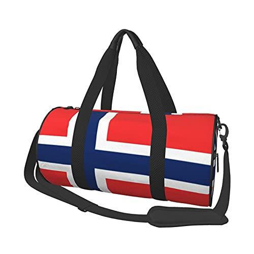 Bolsa de deporte multifunción para gimnasio, unisex, bolsa de lona para el hombro, bolsa de viaje de gran capacidad, bandera ortodoxa noruega