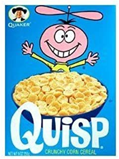 Quisp Crunchy Corn Cereal, 8.5 Ounce - 12 per case.