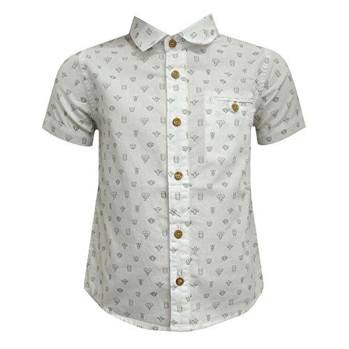 Mayoral - Jungenhemd Hemd kurzarm festlich Tiere, weiß - 1157 - Größe 80