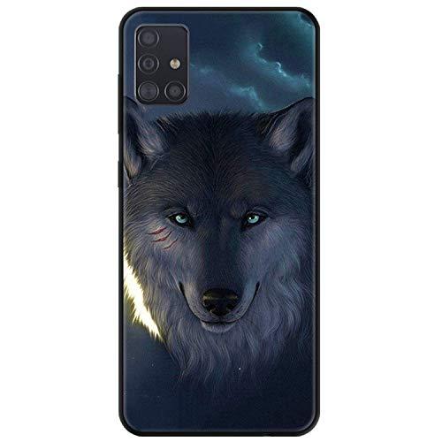 FundX Hülle für Samsung Galaxy A71 - Wolf Tier - Handyhülle