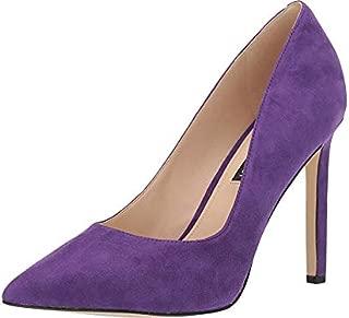 Nine West Womens Tatiana Suede Tatiana Leather Purple Size: 6.5