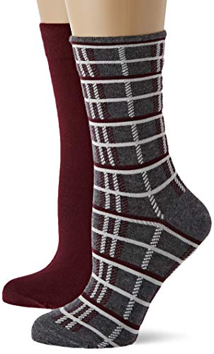 Marc O'Polo Body & Beach Damen W 2-PACK Socken, Rot (burgund 516), 35/38 (Herstellergröße: 400) (2er Pack)