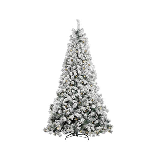 Mazzeo Albero di Natale modelllo Castagno Innevato cm 240, folto con 600 LED Luminosi