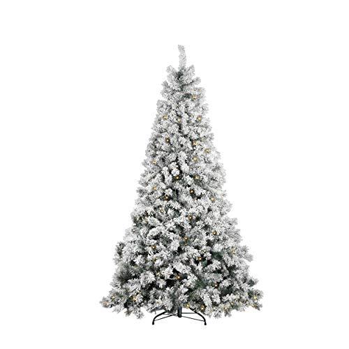 Mazzeo Albero di Natale modelllo Castagno Innevato cm 210, folto con 400 LED Luminosi