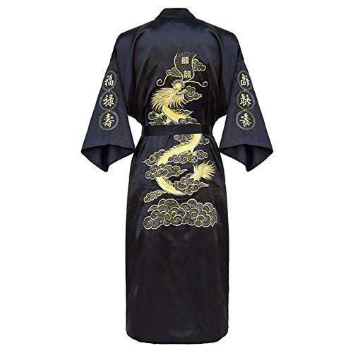 Kimono Bademantel Kleid Home Kleidung Plus GRÖSSE 3XL Chinesische Männer Stickerei Drachen Robe Traditionelle männliche Nachtwäsche Lose Nachtwäsche