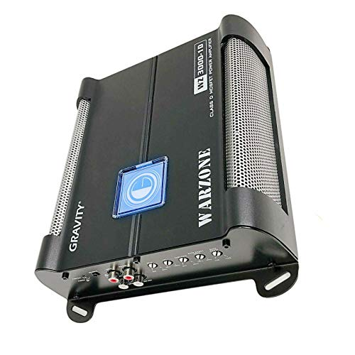 Car Amplifiers - Gravity Audio WZ3000.1D Warzone 3000W Class D Amp 1/2/4 Ohm Stable with Remote Sub Control