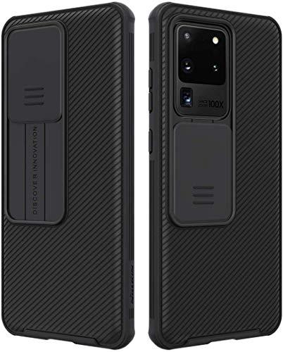 Custodia per Samsung Galaxy S20 Ultra 5G Cover CamShield, Protezione Fotocamera Custodia, E-Lush Case Ultra Sottile Hard PC Cover Anti Graffio Protettiva per Fotocamera Scorrevole Custodia, Nero