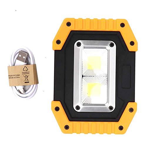 Hebrew Luz de Trabajo para Exteriores, luz de Trabajo de Material ABS Recargable, para el Cuadrado del Sitio de construcción