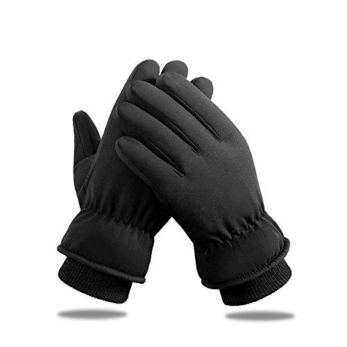 KELOYI Handschuhe Herren Damen fahrradhandschuhe Winterhandschuhe Verdicken Touchscreen Schwarz Warme Fleece Innenfutter Winddicht für Outdoor Motorrad Laufen Radfahren Mountainbike-L
