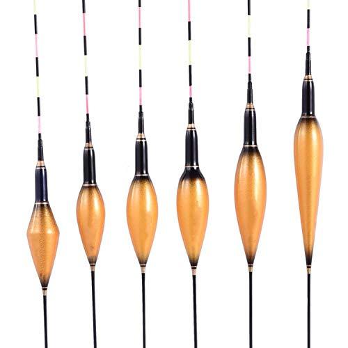 Goods-Store vismolen, 6 modellen, Luminous Floats, gouden composiet-nano-vissen, floatstopper, pesca bobber, accessoires voor buiten, visaccessoires