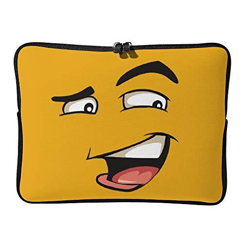 Muestra diariamente las bolsas para portátil Yellow Face mejoradas y resistentes al desgaste. Divertida funda para tablet, adecuada para el trabajo.