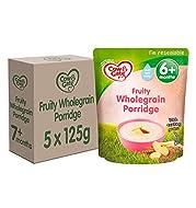 Cow & Gate Fruity Wholegrain Porridge Baby Food Cereal, 6+ Months, 125 g, Pack of 5