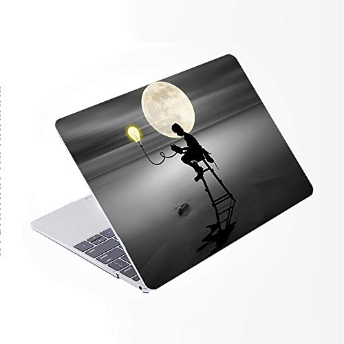 SDH Only Compatible Older for MacBook Pro 13 Inch Case Model A1278 CD-ROM Early 2012-2008 Release, Plastic Pattern Hard Shell & Laptop Sleeve Bag & Gradient Keyboard Cover, Light Bulb 4