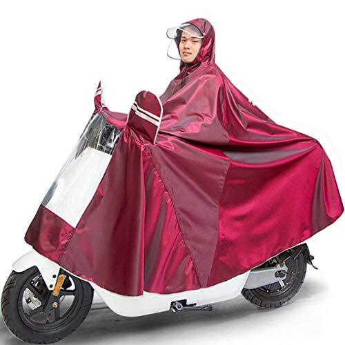 Waterdichte scootmobiel met doorzichtig paneel, weerbestendige universele poncho voor 2- en 4-wiel scooters, volledige bescherming voor scooters en Rider-4XL