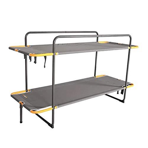 OZtrail Litera de Camping Double BUNK Bed Dos catres, camillas de Camping, Que se Hacen litera 19.5kg 187x70x89cm Capacidad 100kg o 70kg en Modo litera