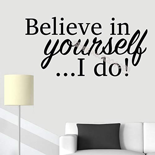 42x83cm Believe in Yourself.I do Quote Wall Sticker School Elementary Secondary Classroom Teacher Bedroom Inspiring