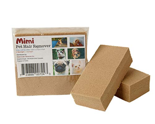 Mimi Pet Hair Remover - Remove Dog, Cat and Other Pet Hair from Furniture, Carpet, Bedding and Clothing - 2 Sponge