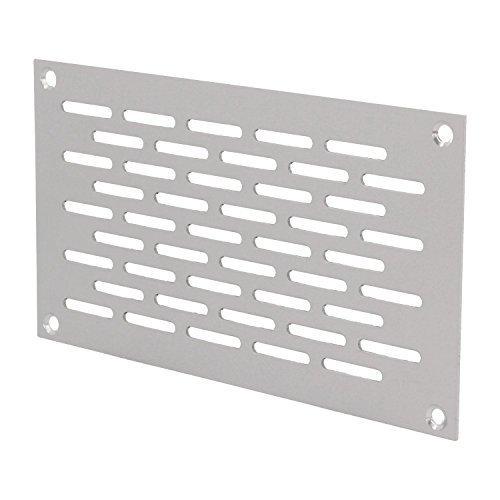 MS Beschläge® Aluminium Lochblech Lüftungsgitter Lüftung Breite 80mm Lochung 20mm x 3mm Silber eloxiert (150mm)