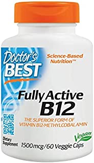 Doctor's Best Fully Active B12, 1500mcg, Veggie Caps, 60ct