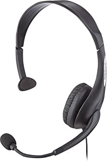 Insignia Pc Headset with Flexible Boom Microphone Black NS-PAH5101