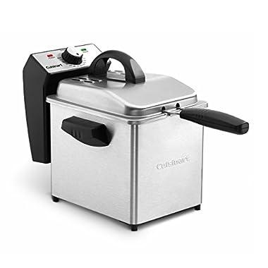 Cuisinart CDF-130 Compact Deep Fryer, 2 quart, Stainless Steel