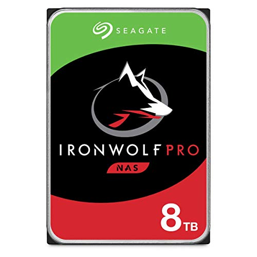 Preisvergleich Produktbild Seagate IronWolf Pro,  NAS interne Festplatte 8 TB HDD,  3.5 Zoll,  7200 U / Min,  CMR,  256 MB Cache,  SATA 6 GB / S,  silber,  FFP,  inkl. 3 Jahre Rescue Service,  Modellnr.: ST8000NEZ01