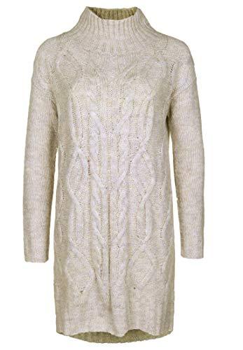 Blaumax - Abito da donna Anne Dress Woodsmoke con cuciture decorative bianco XL