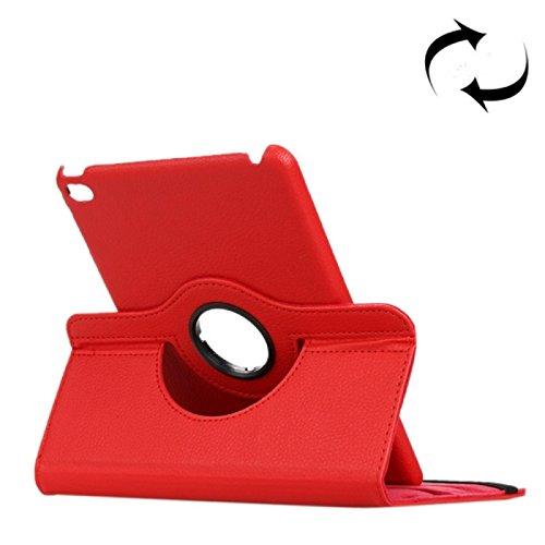 Custodia cover 360 Gradi flip rotabile eco pelle ROSSO con funzione stand per iPad mini 4 + pellicola protettiva + pennino capacitivo + pannetto pulisci schermo digital bay