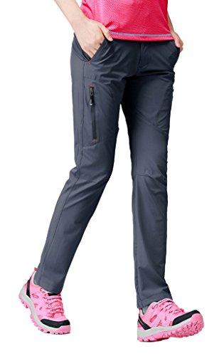 Geval Pantalones de Senderismo de cámping de Secado rápido al Aire Libre a Prueba de Viento de Las Mujeres M Gris Oscuro