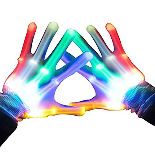 ATOPDREAM Cool Fun Toys for 3-12 Year Old Boys Girls, Flashing LED Light Gloves Glow Gloves Autism Toys for Age 3-12 Boys Girls Birthdays Halloween Christmas Carnival Gifts
