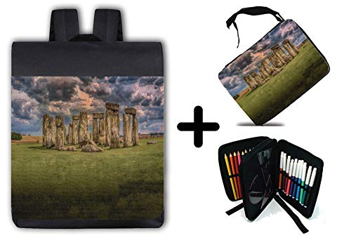 PACK RUCKSACK UND SCHULFALL SOLSTICE STONEHENGE LOCATION material