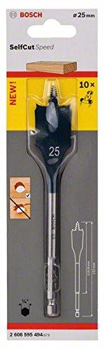 Bosch Professional Flachfräsbohrer (für Weich- und Hartholz, Durchmesser: 25 mm)
