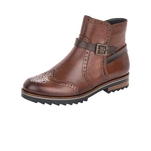 Remonte Damen Stiefeletten, Frauen Klassische Stiefelette, Freizeit leger Stiefel Boot halbstiefel Bootie,Braun(Chestnut),39 EU / 6 UK