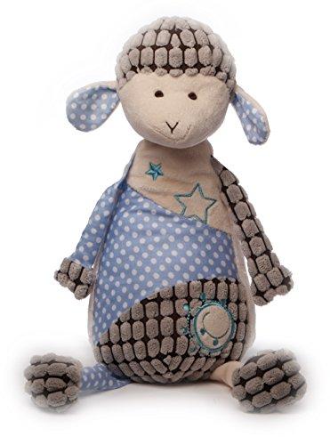 Inware 7985 - Peluche Mouton Sweety, 35 cm, crème/bleu